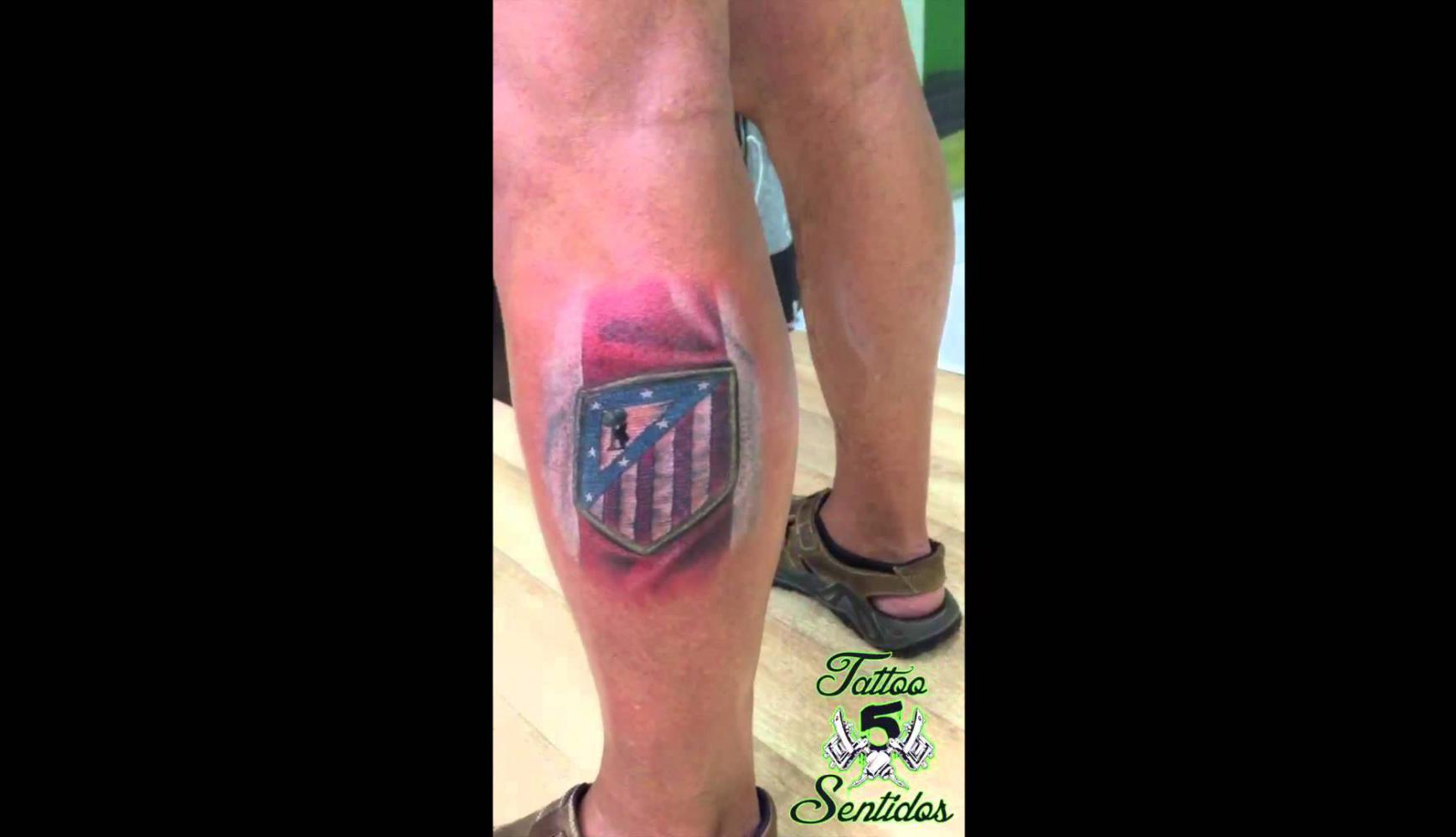 Embedded thumbnail for TATTOO ATLETICO DE MADRID - LOS 5 SENTIDOS TATTOO BENIDORM