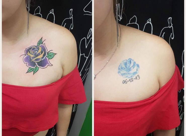 Tattoo Cover up Rosa