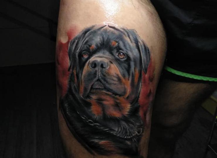 Tattoo retrato perro